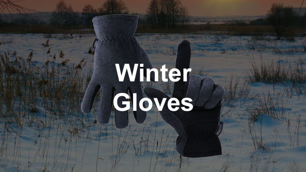 gloves on snow background