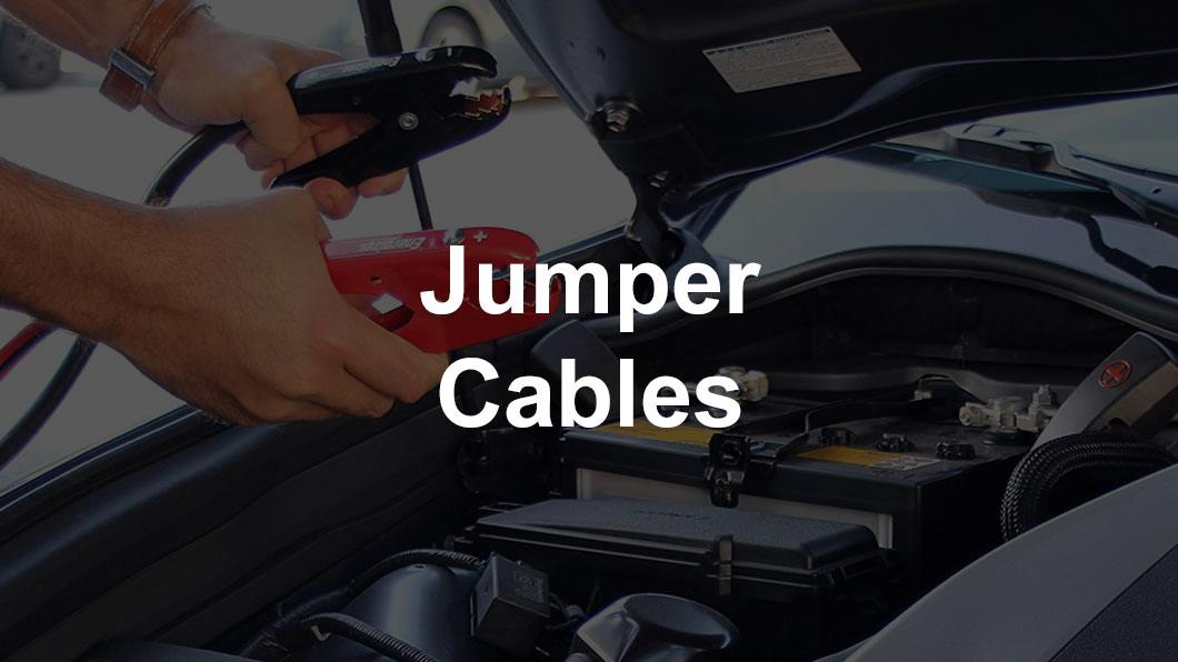 jumper cables under hood