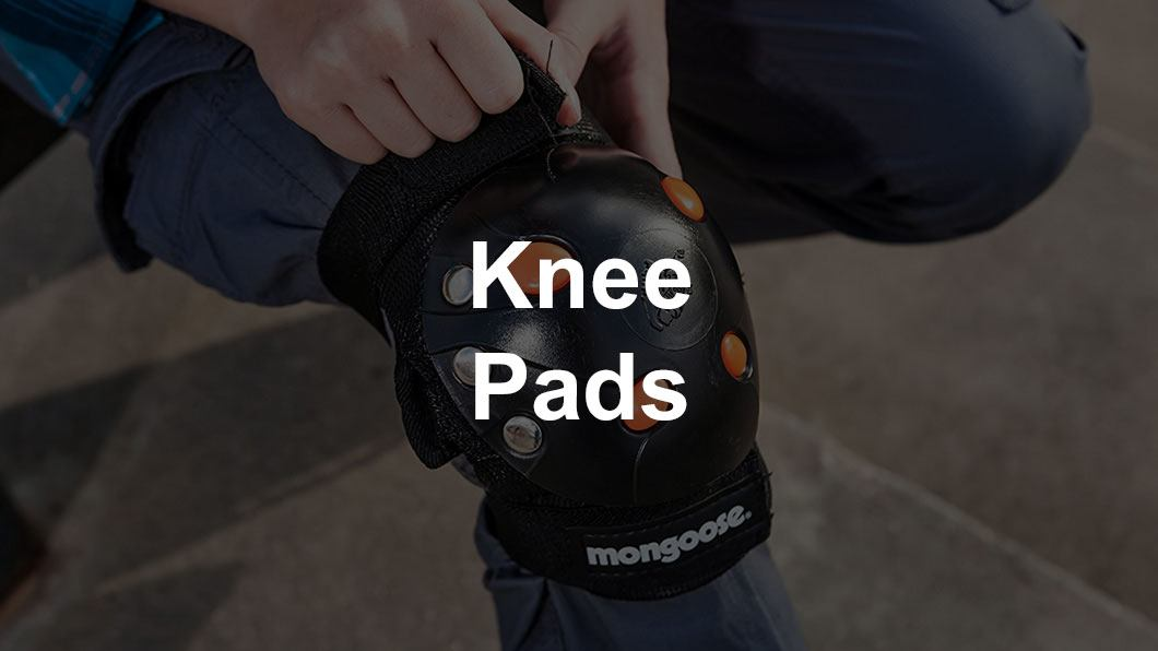 kid wearing knee pads