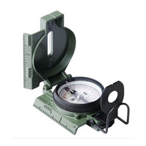 Phosphorescent Lensatic Compass