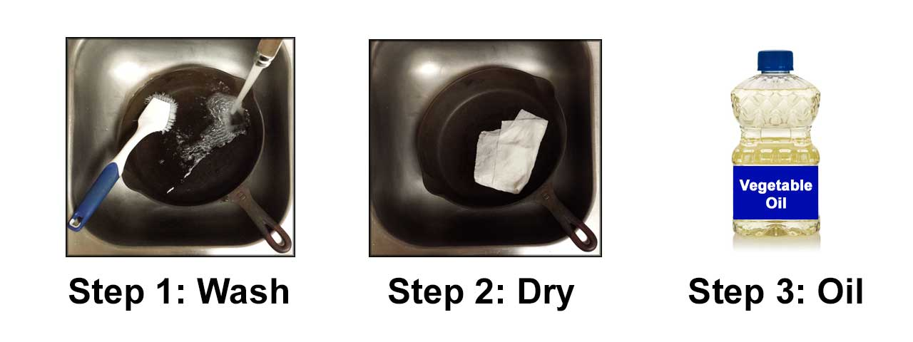 cast iron cleaning steps