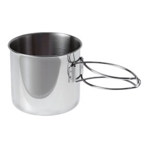 gsi outdoors glacier stainless bottle cup pot