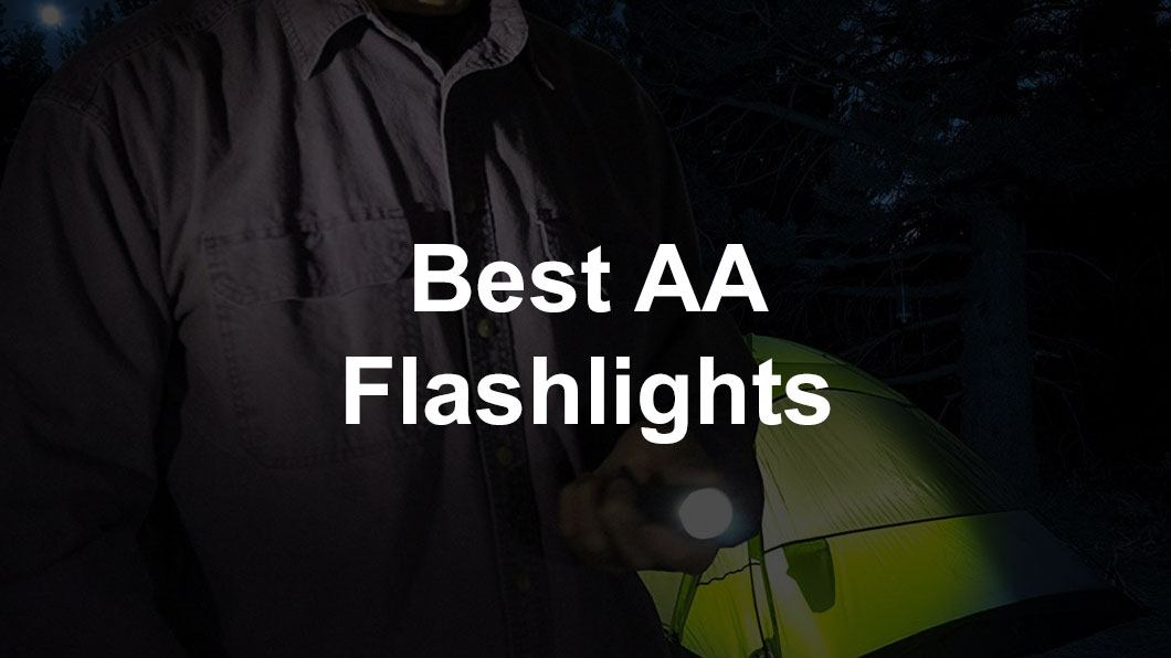 flashlight in woods