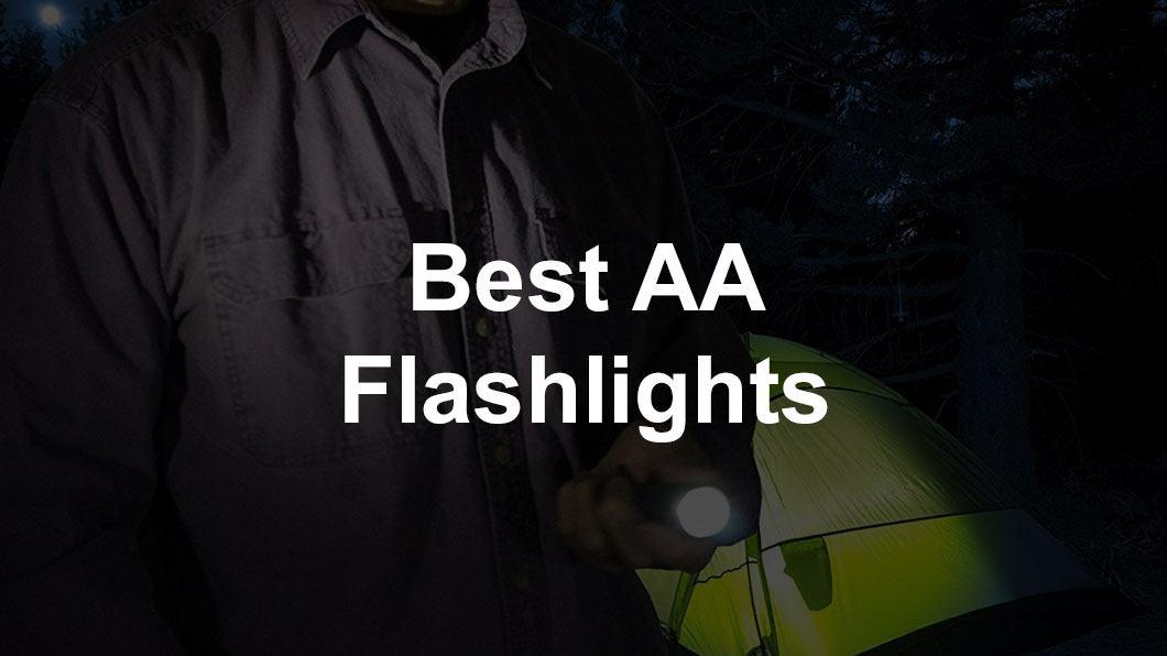 flashlight in woods