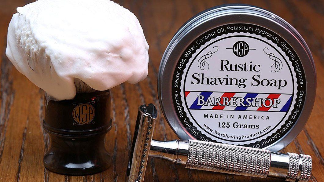 shave soap and razor